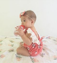lespetitsdarlings - This flower child is wearing our sweet Lily romper with lace flutters. You can also order a matching headband when you order this romper to complete the look!