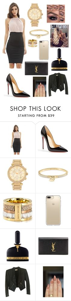 """""""Untitled #260"""" by brie-karitsa-luciano on Polyvore featuring AX Paris, Christian Louboutin, Michael Kors, MICHAEL Michael Kors, Speck, Tom Ford and Yves Saint Laurent"""