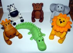 Fondant Jungle/Safari Animal Cake Toppers