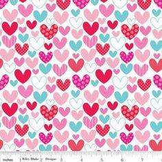 Table Runner Hearts on White. $18.00, via Etsy.