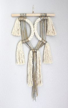 """Macrame Wall Hanging """"Attachment no.2"""" by HIMO ART, One of a kind Handcrafted…"""