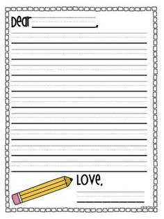 002 WRITERS' LETTER WRITING TEMPLATES & MOREGRADE 1
