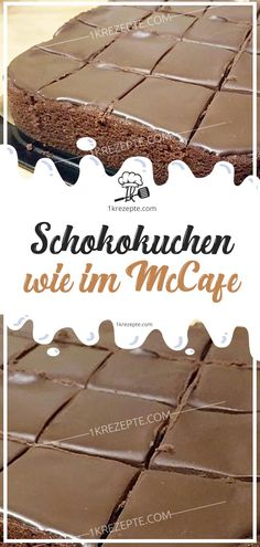 Chocolate cake as in McCafe - Easy Recipes - Kuchen - Cordon Bleu, Baked Oatmeal, Chocolate Cake, Bakery, Food And Drink, Sweets, Desserts, Easy, Diy Hack