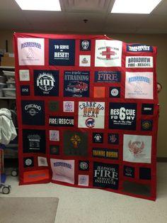 t-shirt quilts | shirt quilt of firemans t shirts | quilts