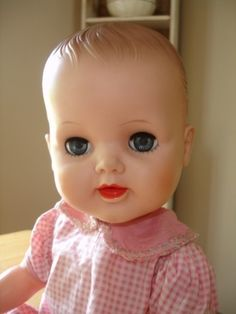 """Doll~20""""~ I have one of these, and had one with brown eyes when I was a girl."""