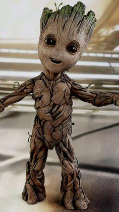 Baby Groot // Guardians of the galaxy vol. Avengers Wallpaper, Deadpool Wallpaper, Baby Groot Drawing, Groot Avengers, Black Panther Art, Groot Guardians, Character Wallpaper, Hulk Marvel, Galaxy Art