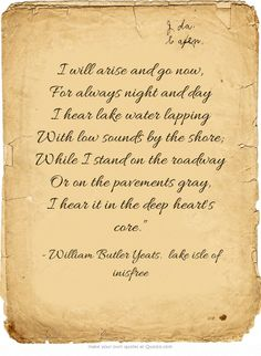 an analysis of personification in the stolen child a poem by w b yeats Phillis wheatley was an african american poet and slave  she published her first poem in 1767 and her first volume of verse, poems on various subjects,.