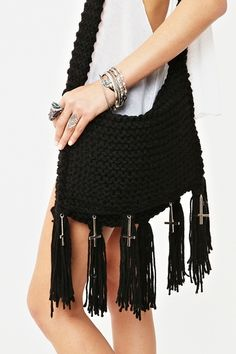 Relic Fringe Bag in Black