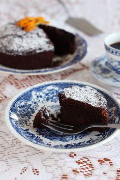 Tinkas Welt: Schoko-Grieß-Kuchen mit Orange - kommt ganz ohne Mehl aus!