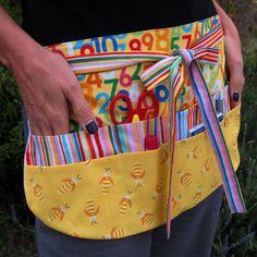 Las abejas y números maestro utilidad delantal con ocho bolsillos para escuela…