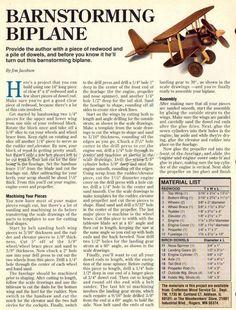 # 2625 Piani di aeroplano di legno - Piani di giocattolo di legno