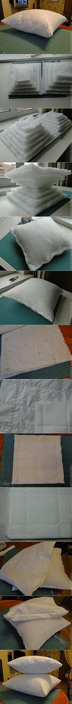 Cómo coser una almohada.