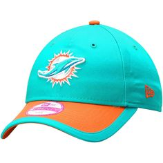 new style fb2cd 25a97 Miami Dolphins New Era Women s Sideline Plus 9TWENTY Adjustable Hat - Aqua