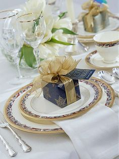 Fine China Table Setting