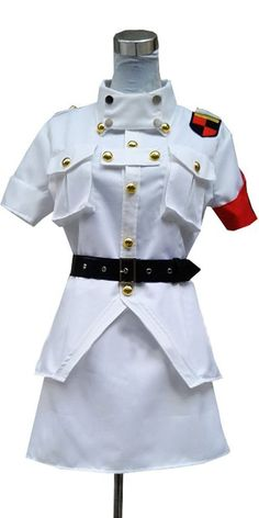 FOCUS-COSTUME Hellsing Seras Victoria White Suit Skirt Cosplay Costume *** Want additional info? Click on the image.