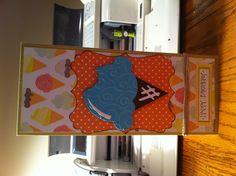Birthday card made using the cricut.