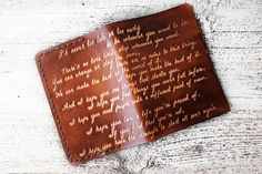 Inspirational Quote Passport Cover