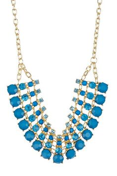 Olivia Welles Multi-Row Crystal & Resin Statement Necklace by Jewelry Blowout on @HauteLook