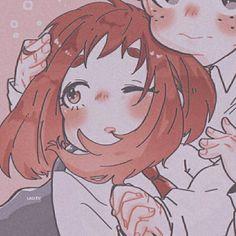 Boku Academia, My Hero Academia, Cute Anime Profile Pictures, Matching Profile Pictures, Anime Couples Drawings, Cute Anime Couples, Otaku Anime, Anime Art, Kawaii Faces