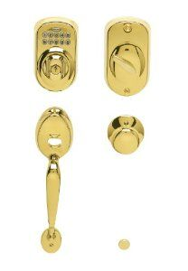 Schlage FE365 V PLY 505 PLY Plymouth Keypad Deadbolt with Plymouth Outer Grip and Plymouth Knob Interior, Bright Brass by Schlage Lock Company. Save 42 Off!. $229.00. From the Manufacturer                 With the convenience of keyless entry, the Schlage Plymouth keypad handleset means you never have to worry about losing your house keys again.  In addition, you are provided the peace of mind knowing that these products are built from the superior quality materials giving you a high level…