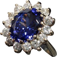 Princess Diana Dream! STUNNING 5.88ct Tanzanite Diamond Ring