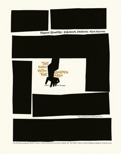 Saul Bass  | The Man With The Golden Arm Poster (Two Color Version)