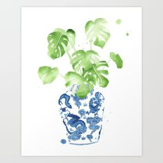 Buy Ginger Jar + Monstera by THE AESTATE as a high quality Art Print. Worldwide shipping available at Society6.com. Just one of millions of products available.