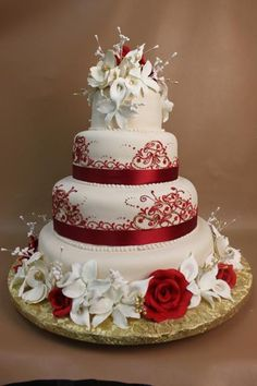 Cg I Like This Cake Simple White With Red Square Tiers Cakes