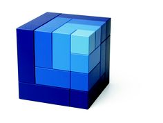 Cubicus blue wood toy by Naef