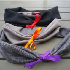Headband / bandeaux en jersey avec noeud satin- idée cadeau - anniversaire