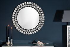 Luxusné dizajnové zrkadlo s kryštálmi. Decorative Objects, Stones And Crystals, Decoration, Sparkle, Diamond, Glass, Furniture, Wall Mirror, Mirrors