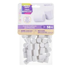This Foamies® marshmallow shape is fun for make believe, crafts, group projects and more! This Foamies® marshmallow shape is fun for make believe, crafts, group projects and more! 50 pieces per package. Food Crafts, Crafts To Do, Resin Crafts, Diy Whipped Cream, Homemade Milkshake, How To Make Marshmallows, Candy Decorations, Craft Online, Fake Food