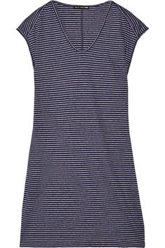 Rag & bone | Anya striped cotton and linen-blend mini dress | NET-A-PORTER.COM