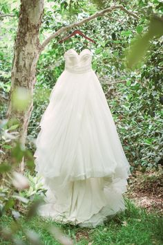 Strapless Ball Gown with Sweetheart Neckline by Anne Barge | Photography: Lucas Rossi and Michelle Kyle. Read More: http://www.insideweddings.com/weddings/inspirational-outdoor-garden-wedding-shoot-with-modern-elements/687/