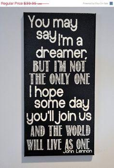 HollyJollySale Imagine  John Lennon  Canvas by everlastingdoodle, $29.96