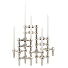 STOFF / Nagel stager - the true story!  The Nagel candle holder was originally designed by Werner STOFF for Hans Nagel in the 60's.  Since the original production at Nagel stopped, the modular candle stick has become a collectors item. When we got the permission from Nagel to reproduce the candle holder we chose to call it STOFF® as it was Werner STOFF who was the designer behind it.  So STOFF® is the new Nagel!