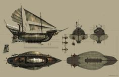 Steampunk Flying Ships (2006 Personal project), Eddie Bennun