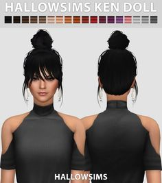 Hallow Sims: Ken Doll hair  - Sims 4 Hairs - http://sims4hairs.com/hallow-sims-ken-doll-hair/