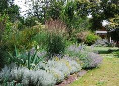 Perennials and ornamental grasses offer a relaxed feel.