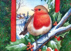 Pretty Christmas Robin