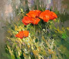 Poppies in the grass by Alexi Zaitsev