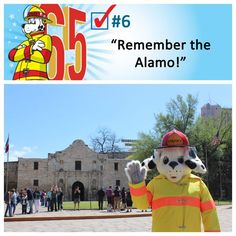 Sparky got to visit the Alamo in San Antonio, Texas. Built in 1744 by Spanish missionaries, the Alamo was converted to a military fortification in the Sparky The Fire Dog, Fortification