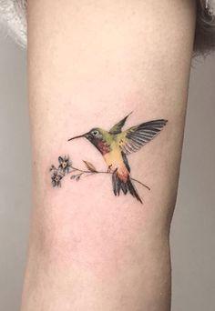 tattoos. Hummingbird Tattoo Watercolor, Small Hummingbird Tattoo, Hibiscus Tattoo, Watercolor Tattoo, Bird Tattoos For Women, Small Bird Tattoos, Dad Tattoos, Line Tattoos, Flower Tattoos