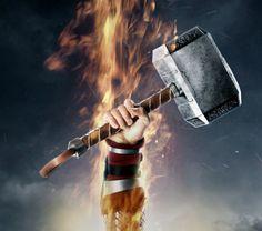 Thor's Mjolnir hammer from Avengers 2 - Age of Ultron