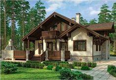 Проект дома в стиле шале chl-14-09