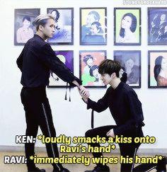 Ravi's face tells everything