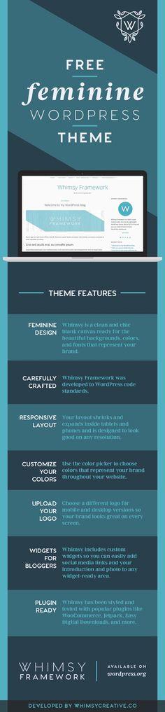 Whimsy Framework - free feminine wordpress theme
