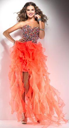 3b7bf5ac10d 62 Best Orange Prom Dresses images