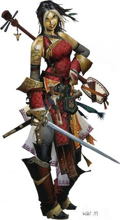 pathfinder female half orc - Google Search