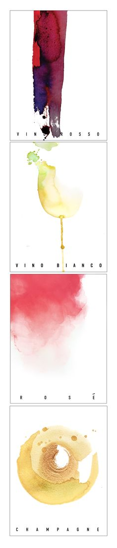 Watercolor Wine Series. Vasco Morelli, 2015. Watercolor and mixed media.